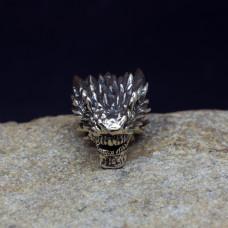Бусина Ледяной дракон латунь